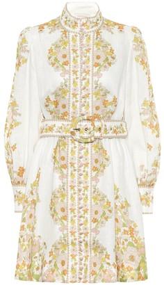 Zimmermann Super Eight floral linen minidress
