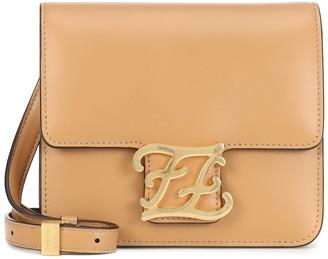 Fendi Karligraphy Small leather shoulder bag