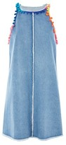 Jaded London **Festival Denim Pom Pom Dress
