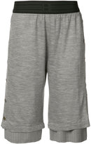 Baja East layered press stud shorts - women - Virgin Wool - 1