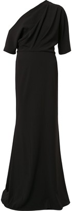 Badgley Mischka Off-Shoulder Gown
