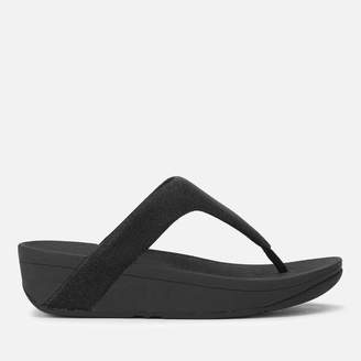 FitFlop Women's Lottie Glitzy Toe Post Sandals - Black