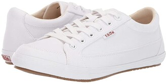Taos Footwear Moc Star (White Softy Canvas) Women's Lace up casual Shoes