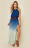 Blue Life 2 slit halter dress