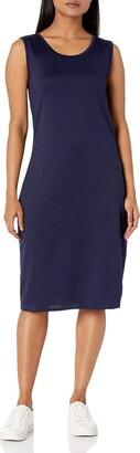 Star Vixen Women's Petite Sleeveless Round Neck Midi-Length Dress