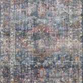 Loloi Rugs Hand Woven Wool, Viscose from Bamboo Rumi Area Rug by Loloi, Navy/Mult