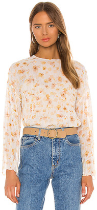 Vince Pressed Petal Long Sleeve Blouse