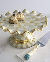 Mackenzie Childs MacKenzie-Childs Parchment Check Dessert Stand