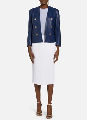 St. John Lined Ultimate Nappa Leather Jacket