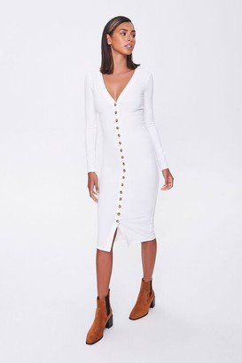 Forever 21 Button-Front Midi Dress