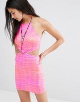 Missguided Twist Front Tie Dye Dress