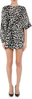 Saint Laurent Women's Leopard-Print Silk Crêpe De Chine Minidress