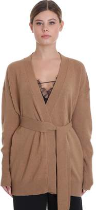 Mauro Grifoni Cardigan In Beige Cashmere