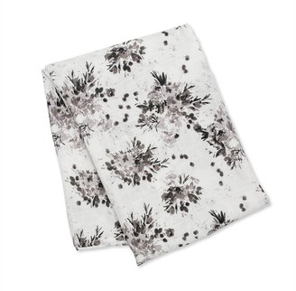 Lulujo - Swaddle Blanket Bamboo Cotton - Black Floral
