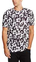 Disney Men's Mickey Mouse Grid T-Shirt