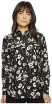 Lauren Ralph Lauren Floral Cotton-Silk Shirt Women's Clothing