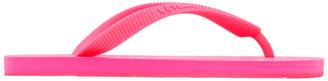 Vetements Pink Logo Flip Flops
