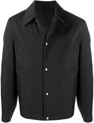 Salvatore Ferragamo Snap Button-Up Shirt Jacket