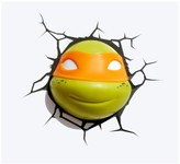3D Light FX Teenage Mutant Ninja Turtles 3D Wall Nightlight -Michelangelo Face