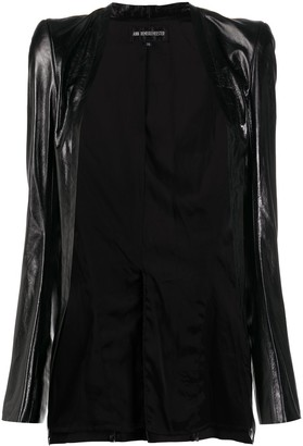 Ann Demeulemeester Open Front Leather Jacket