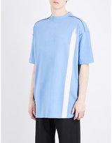 Raf Simons Bleached-stripe Cotton-jersey T-shirt