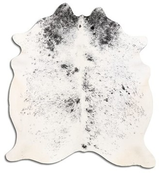 Muriel Handmade Cowhide Off White/Black Area Rug Foundry Select