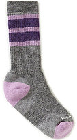 Smartwool Girls Striped Hike Medium Crew Socks