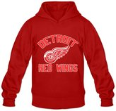 Enlove Detroit Red Wings Thin 100% Cotton Hoodies For Men Size XL