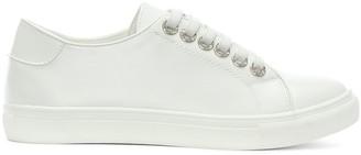 Diane von Furstenberg By Daniel Hawley White Jewelled Eyelet Sneakers