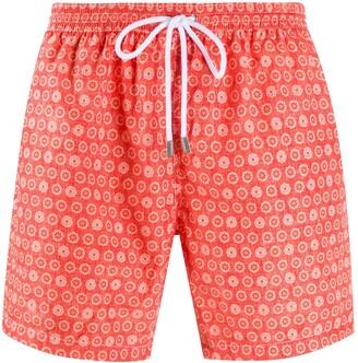 Barba Floral-Print Swim Shorts