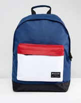 Nicce London Nicce Colour Block Backpack In Navy