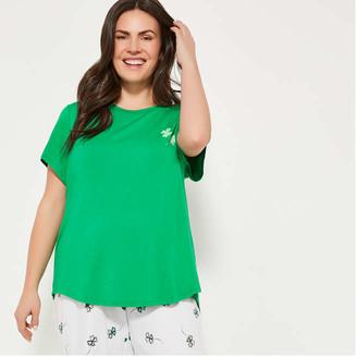 Joe Fresh Women+ Sleep Tee, Green (Size 3X)