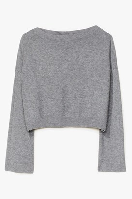 Nasty Gal Womens Knit's on the Agenda Relaxed Lounge Sweater - Grey