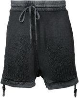 11 By Boris Bidjan Saberi optic embroidered shorts - men - Cotton - M
