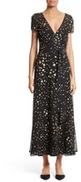 RED Valentino Women's Lame Star Wrap Maxi Dress