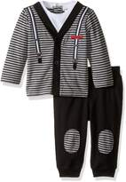 Calvin Klein Baby Cardigan with Patched Pants Set