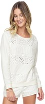 Juicy Couture French Terry Eyelet Pullover