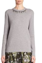 Erdem Lana Embellished Sweater