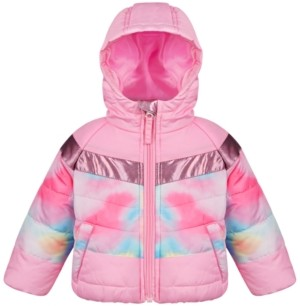 S. Rothschild Baby Girls Tie-Dye Colorblocked Coat