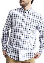 Joules Wilby Long Sleeve Check Shirt, Blue Check