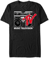 Fifth Sun Black MTV Boom Box Logo Tee - Men's Regular