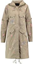 Needle & Thread Embroidered Embellished Cotton-Gabardine Hooded Coat