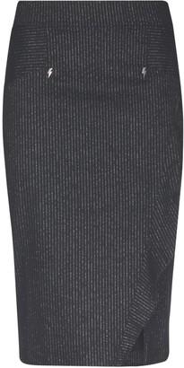 8pm Ruffled Trim Pencil Skirt