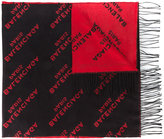 Balenciaga Logo print dual colour scarf - women - Silk - One Size