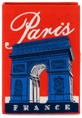 Olympia Le-Tan Arc De Triomphe Embroidered Book Clutch