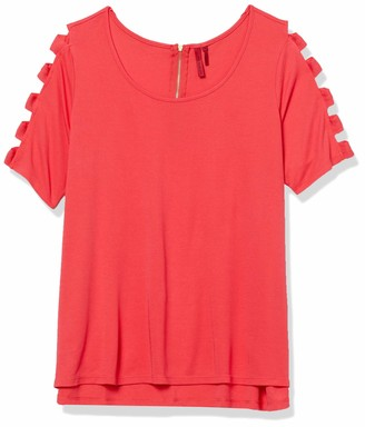 Love Scarlett Women's Plus Size Ladder Sleeve T-Shirt