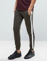 Brave Soul Wide Striped Zip Pocket Sweat Pants