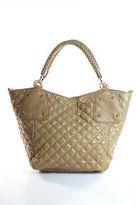 Big Buddha Brown Leather Magnetic Popper 3 Pocket Shoulder Handbag