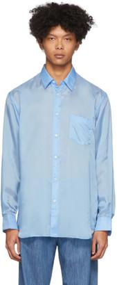 Comme des Garçons Shirt Blue Taffeta Shirt