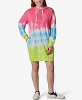 Thumbnail for your product : Ultra Flirt Juniors' Tie-Dye Fleece Hoodie Dress